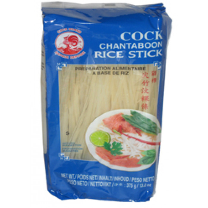 Aroy-D/Cock Rice Sticks (S) 375g 1mm 泰國粿條