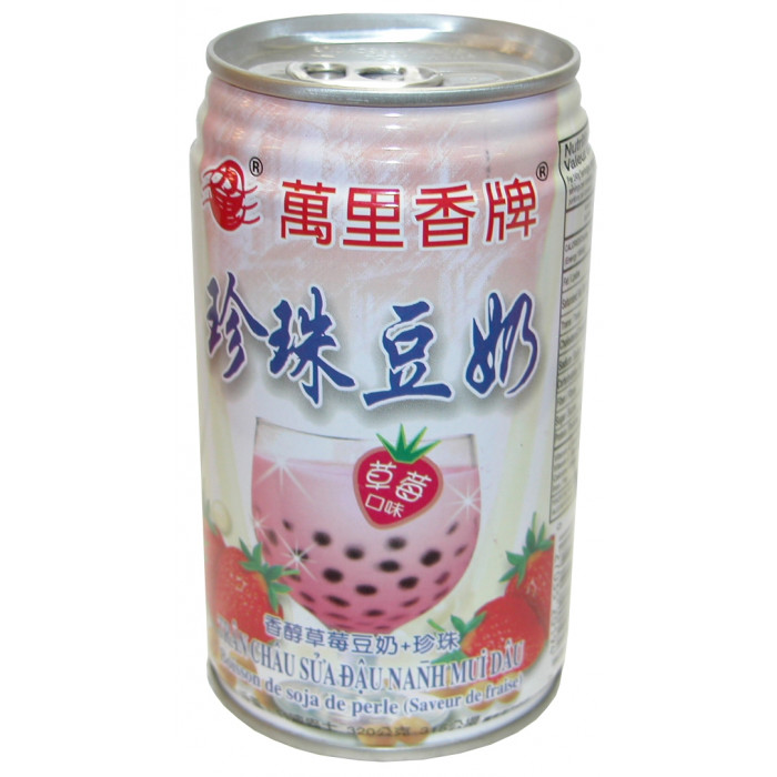 Mong Lee Shang Pearl Soybean Drink with Tapioca ball Strawberry Flav. 珍珠豆奶(草苺味) 320g