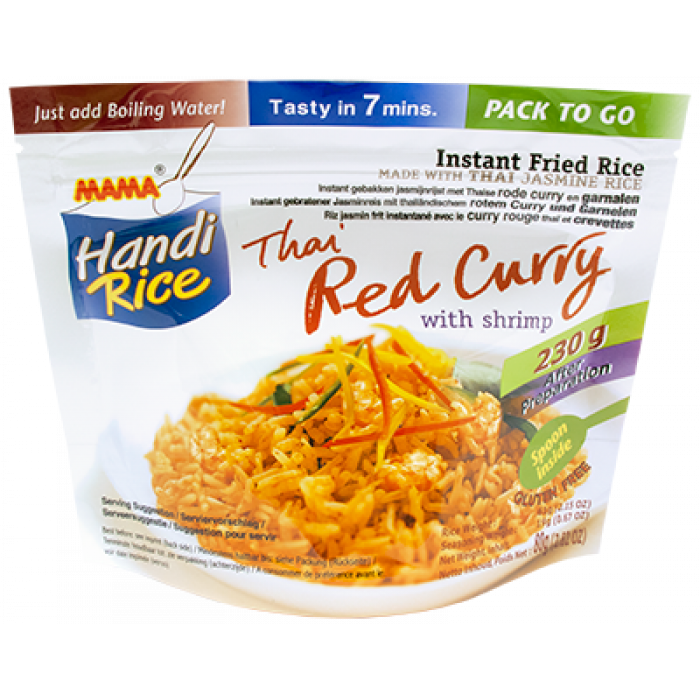 Mama Instant Fried Rice Thai Red Curry With Shrimp 80g