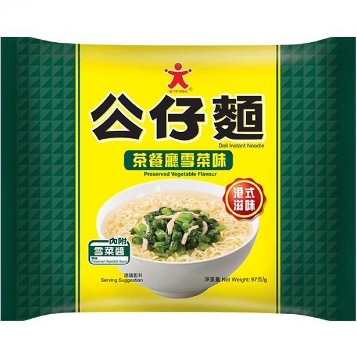 Doll Instant Noodle Preserved Vegetable Flav. 97g 公仔麵茶餐廳雪菜味