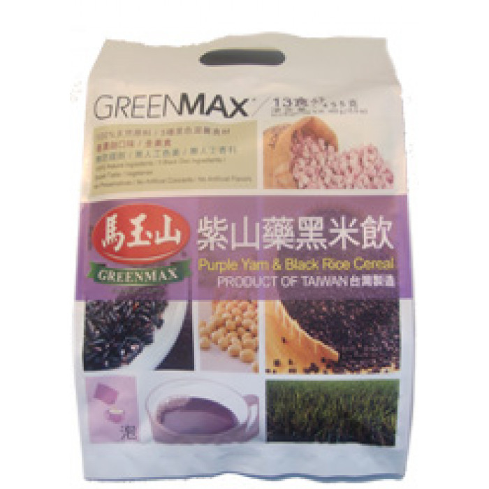 Greenmax Purple Yam & Black Rice Cereal 35gx13