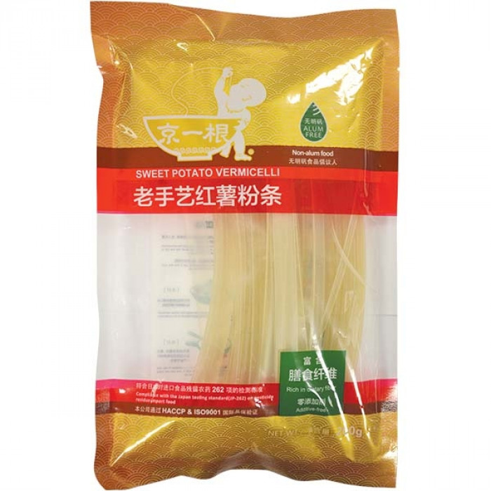 Jing Yi Gen Sweet Potato Vermicelli 10mm 200g京一根老手艺红薯粉条