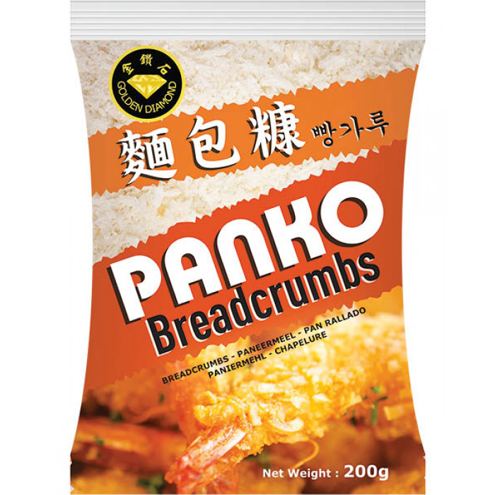 Golden Diamond Bread Crumbs Panko 200g 金钻石面包糠