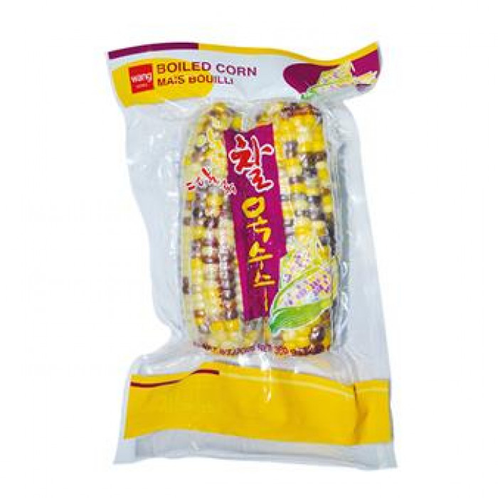 Wang Korea Boiled Corn 2pcs  360g / 韩国速冻即煮玉米 2pcs 360g