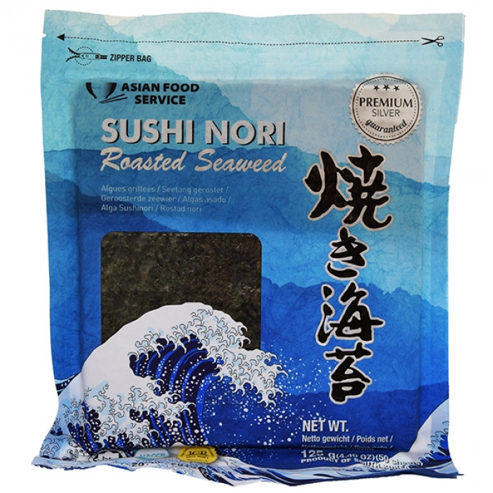 Asian Food Service Roasted Seaweed Sushi Nori (50 sheets) 125g / 海苔片 125克