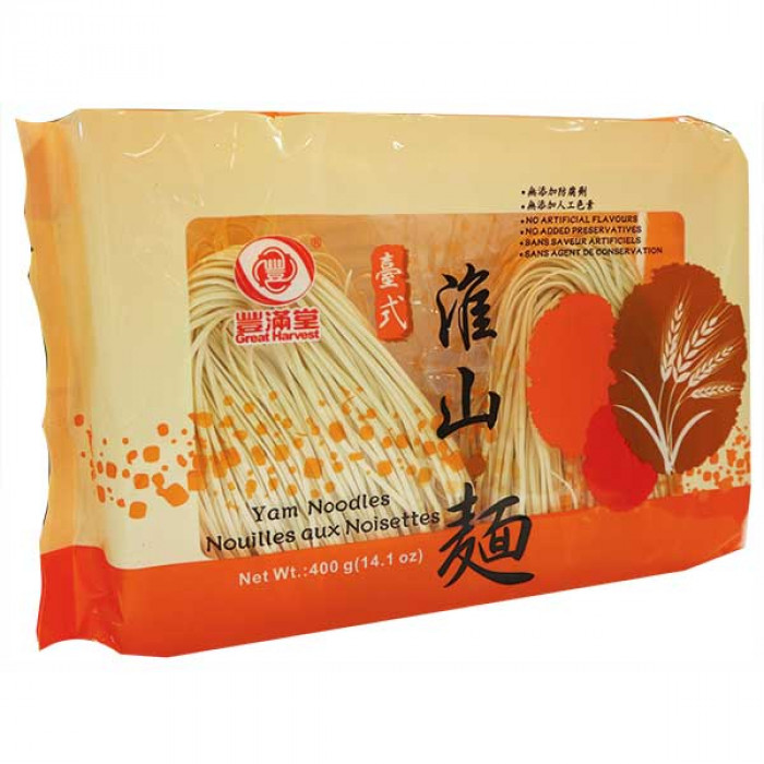 Great Harvest Yam Noodles 400g / 丰满堂台式淮山面 400g