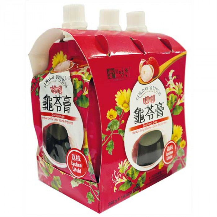 Yummy House Lychee Guiling Gao Herbal Jelly 龜苓膏 250GX3