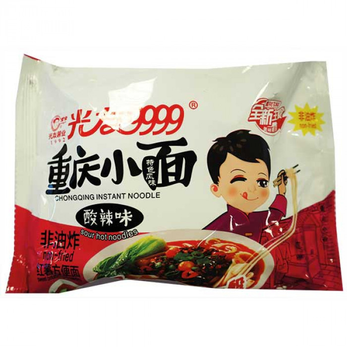 GUANG YOU Instant Noodle Chongqing Hot & Sour Flav. 110g / 光友重庆小面酸辣面红薯方便面(袋装) 110g