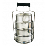 Meat Ball Food Carrier Set 4 Piece Stacking ( Stainless Steel ) / 不锈钢4层食盒