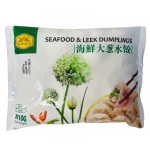 Hong's Mixed Seafood & Leek Dumplings 410g / 宏记 速冻海鲜韭菜水饺 410克