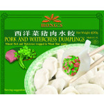 Hong's Pork & Watercress Dumplings 410g 速冻西洋菜猪肉水饺