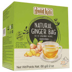 Gold Kili Natural Ginger Bag 20x3g / 金麒麟 纯天然姜袋 原味 20x3克