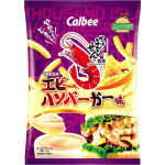 Calbee Thousand island Shrimp Burger Flavour Prawn Cracker 75g