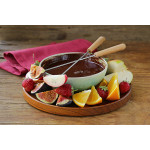 Chocoladefondue met fruit en marshmallows