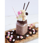 Choco Freak Shake: Garnished Chocolate Milkshake