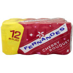Fernandes Cherry Bouquet Sugar Free Drink 330ml [Tray 12x] / 无糖樱桃汽水 12罐一箱