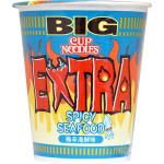 Nissin Big Cup Instant Noodles Extra Spicy Seafood Flav. 100g / 合味道 极辛海鲜大杯面 100克