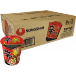 Nong Shim Shin Cup Noodles Soup Hot & Spicy (12x68g) / 辛拉面杯面 1箱(12杯)
