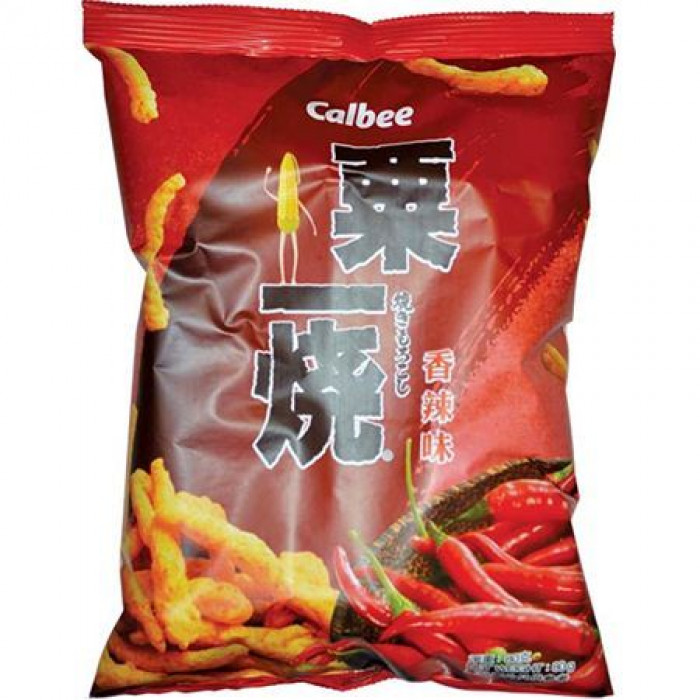 Calbee Grilled Corn Stick Hot & Spicy Flavour 80g 卡乐B粟一烧香辣味