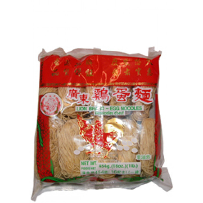 新顺福幼蛋面 454g / Lion Waystart Chinese Egg Noodle Thin 454g