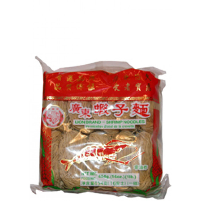 寿桃牌 虾子幼面 454g / Lion Waystart Chinese Shrimp Noodle Thin 454g