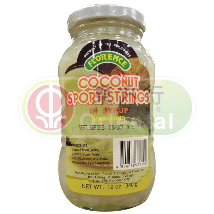 Florence Coconut Sport Strings in Syrup Macapuno 340g