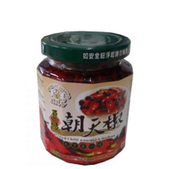 万里香豆豉朝天椒 240g / Mong Lee Shang Pickled Chilli With Black Bean 240g