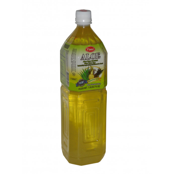 菠萝味芦荟汁 1.5Ltr / T`Best Aloe Vera Drink Pineapple Flav ( 1.5lt )