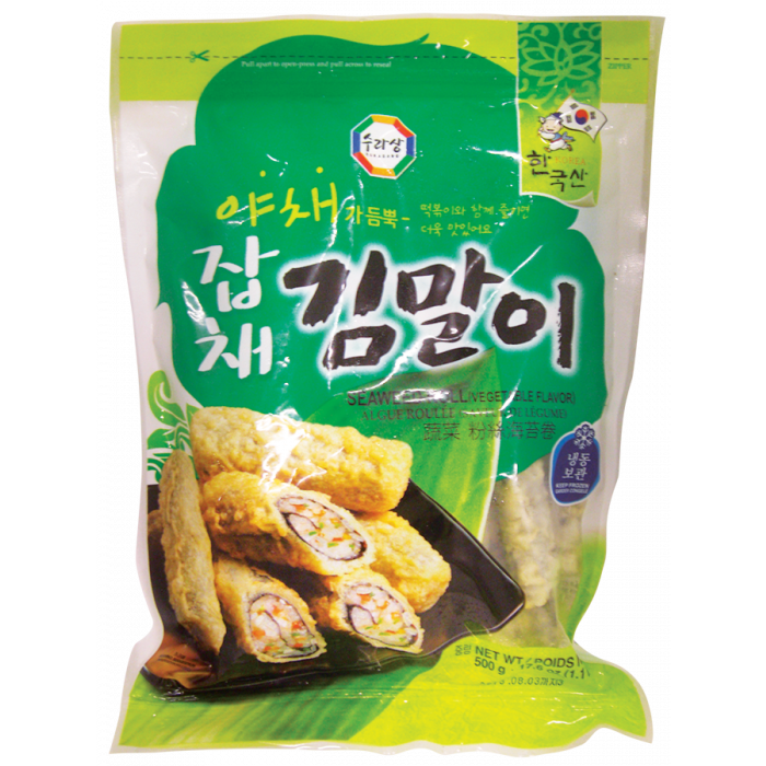 韩国速冻蔬菜粉丝海苔卷 500克 / Surasang Frozen Seaweed Roll Vegetable Flav. 500g