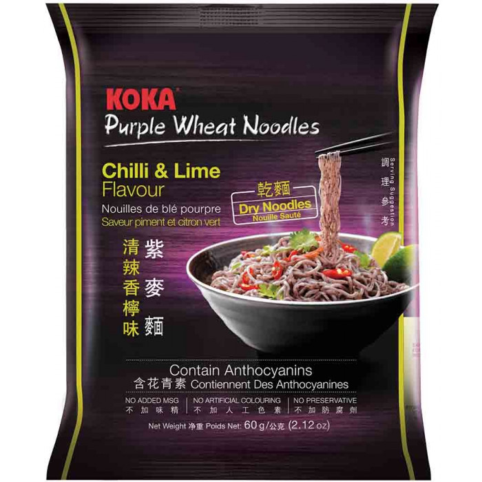 60g / Koka Instant Purple Wheat Noodles Chilli & Lime Flavour 60g意式清辣香柠紫麦面