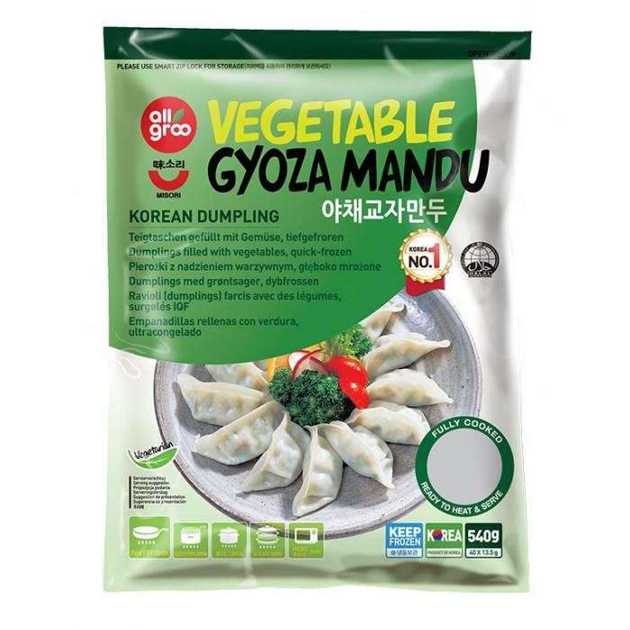 All Groo 韩国蔬菜饺子540g / All Groo Vegetable Gyoza Mandu Korean Dumpling 540g