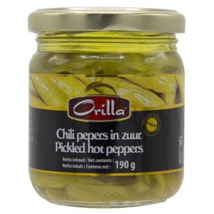 Orilla Chili Pepers In Zuur 190g