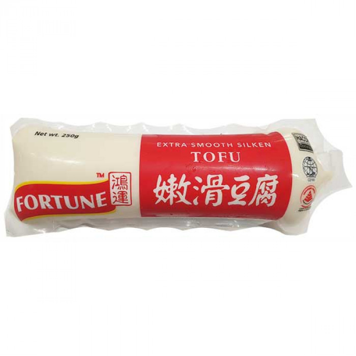 鸿运牌嫩滑豆腐 250g / FORTUNE Extra Smooth Silken Tofu Tube ES25 250g