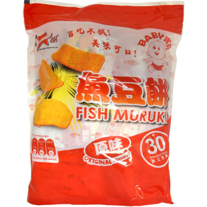 BH 原味鱼豆饼 360克 / BH Fish Muruku Cracker Original Flavour 360g