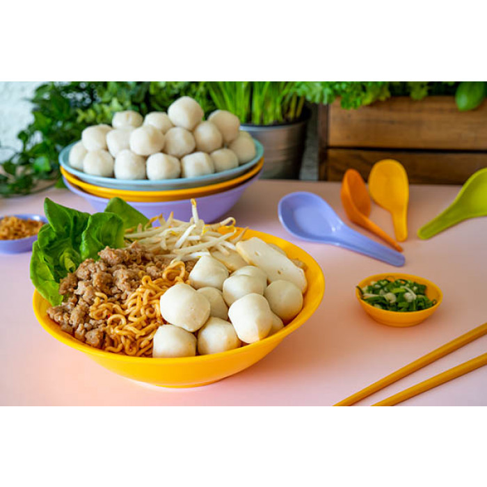 鱼丸捞面 / Fish Ball Mee (Dry)