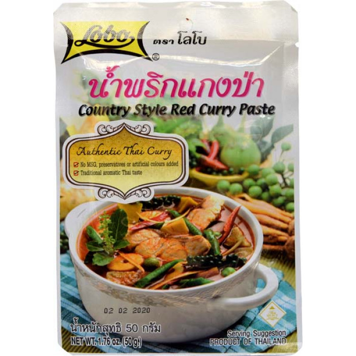 Lobo Red Curry Paste Country Style 50g