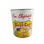五象牌珍珠笋 2900g / Five Elephant Baby Corn Cut 2900g