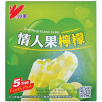 Shao Mei Green Mango & Lemon Ice Bar 5x80g 情人果柠檬冰棒