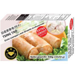 金钻石 青岛蒜香素春卷 500克 / Golden Diamond Spring Rolls with Vegetables Garlic Flav. 10x50g