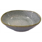 Oriental Yokohama Irregular Plate Green With White 18x5cm