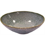 Oriental Yokohama Irregular Bowl Green With White 20cm