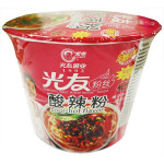 光友无明矾方便粉丝碗装-酸辣粉口味 105g  / GUANG YOU Instant Vermicelli Hot & Sour Flav. Bowl 105g