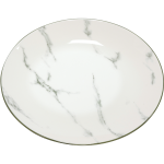 北欧风 大理石纹大圆碟 Ø23厘米 / Oriental Round Plaat White Grey Marble Stripes Ø23cm