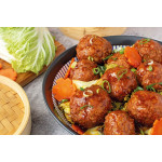 "红烧狮子头 / ""Lion's Head"": Chinese Meatballs With Chinese Cabbage"