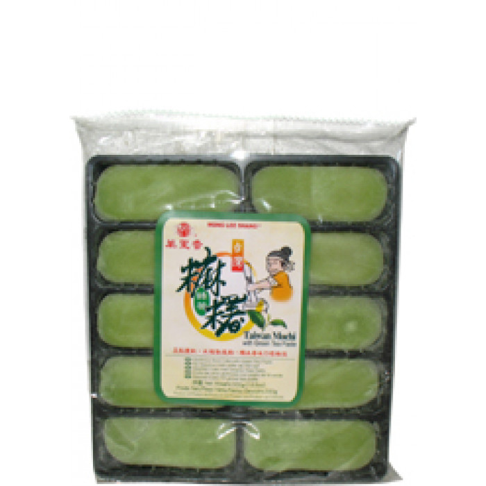 Mong Lee Shang Green Tea Mochi Taiwan 300g  / 万里香绿茶麻糬 300克