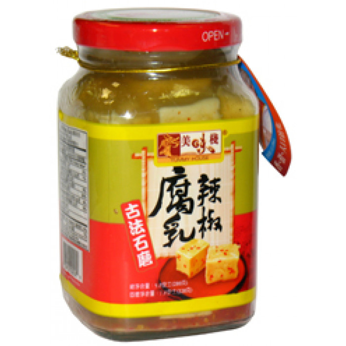 Yummy House Bean Curd With Chilli 280g / 美味栈辣腐乳 280g