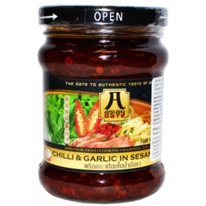 Asian Gate Chilli & Garlic in Sesame Oil 227g (麻油辣椒醬(蒜味))