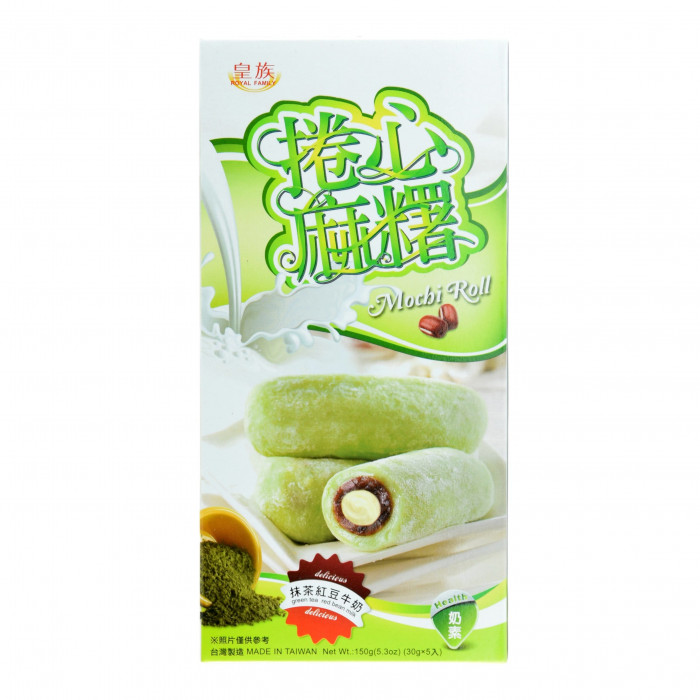 Royal Familly Green Tea Mochi Roll 150gr 皇族卷心麻糬抹茶口味