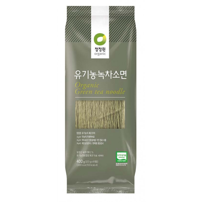 Chung Jung One Organic Noodles Green Tea Flavour 400g 韩国有机绿茶面条