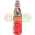 Hatakosen Ramune Soda Strawberry Carbonated Drink 200ml